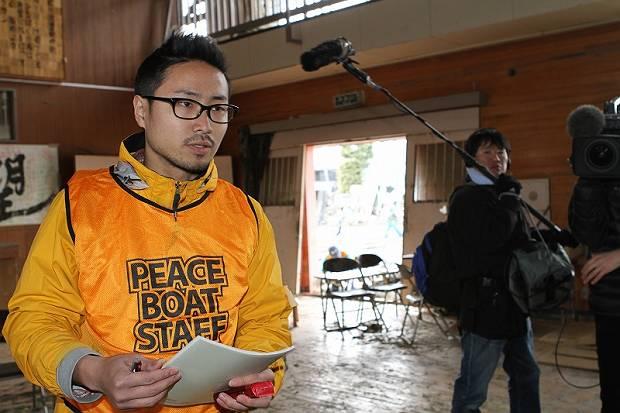 Peace Boat staff Ueshima Yasuhiro