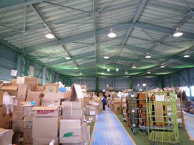 Storage room at Senshu University