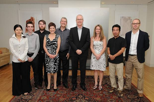 Their activities reached the ears of the Australian Ambassador to Japan Bruce Miller, and the group was invited to the Ambassador's Residence prior to Paul's fourth volunteer visit.