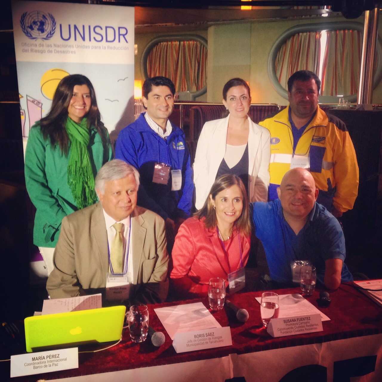 Presenters at the onboard forum in Valparaiso