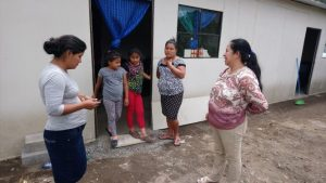A preliminary visit was made at the beginning of September to a site where affected people are temporarily living, to provide the necessary items.