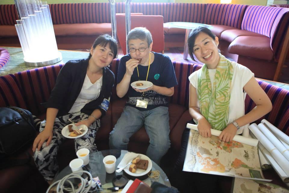 アニメーション監督の宇井孝司さんも会いに来てくれたよ